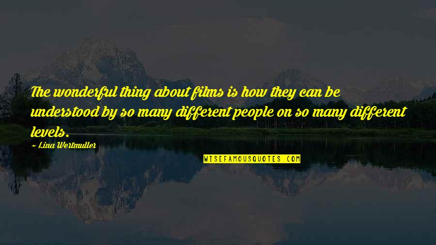 Different Levels Quotes By Lina Wertmuller: The wonderful thing about films is how they