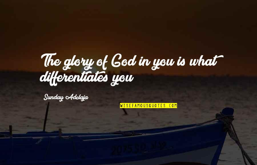 Differentiates Quotes By Sunday Adelaja: The glory of God in you is what