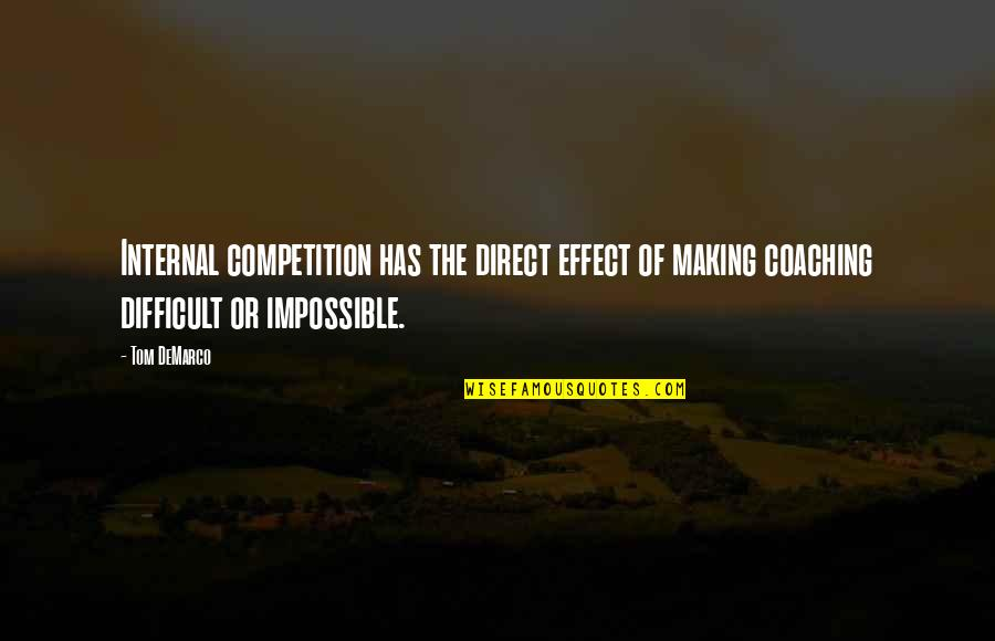 Difficult Not Impossible Quotes By Tom DeMarco: Internal competition has the direct effect of making
