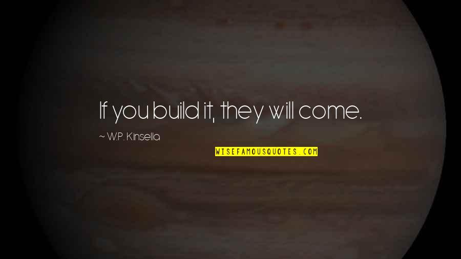 Digladiate Quotes By W.P. Kinsella: If you build it, they will come.