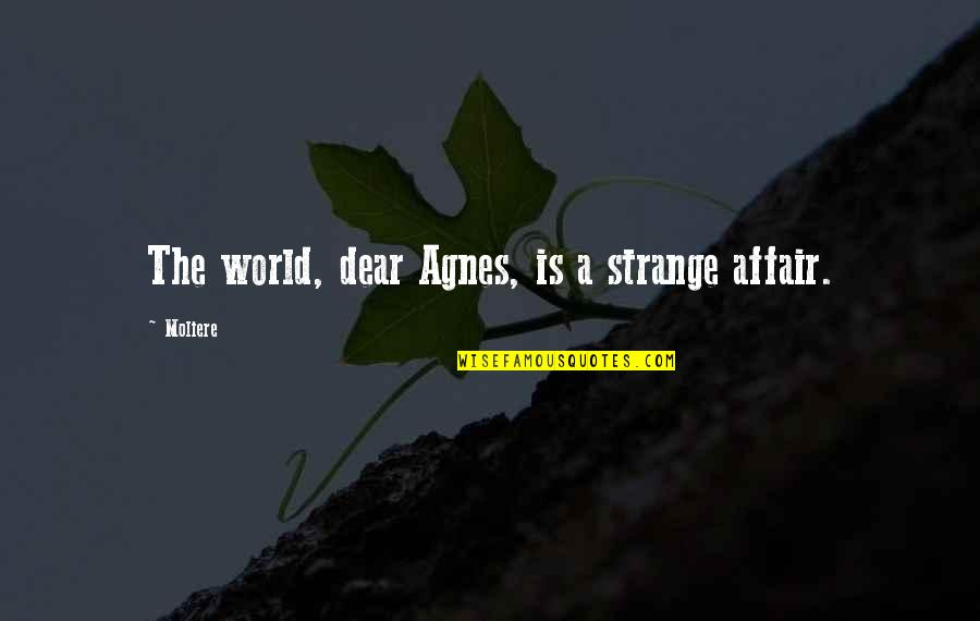 Dimitri Rascalov Quotes By Moliere: The world, dear Agnes, is a strange affair.