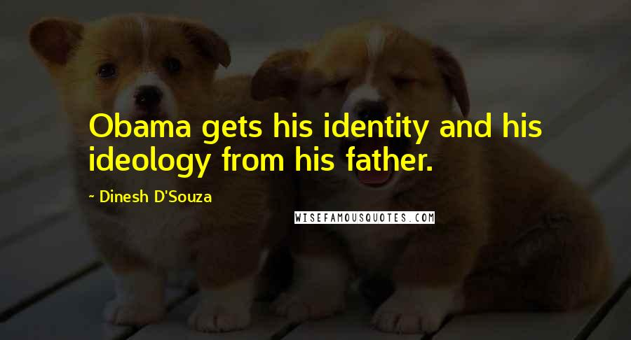 Dinesh D'Souza quotes: Obama gets his identity and his ideology from his father.