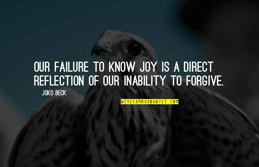 Direct Quotes By Joko Beck: Our failure to know joy is a direct