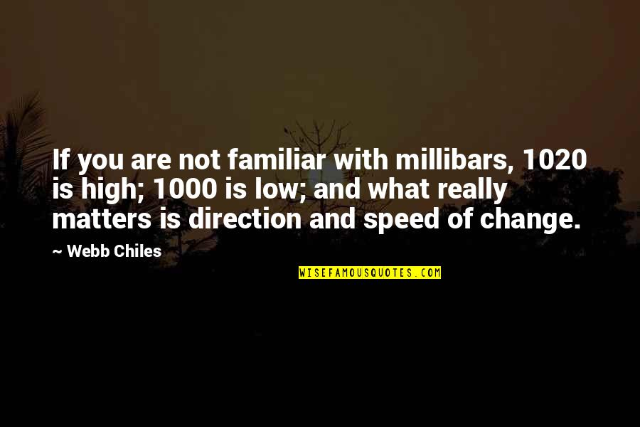 Direction And Speed Quotes By Webb Chiles: If you are not familiar with millibars, 1020