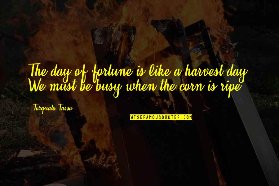 Dirty Paws Quotes By Torquato Tasso: The day of fortune is like a harvest