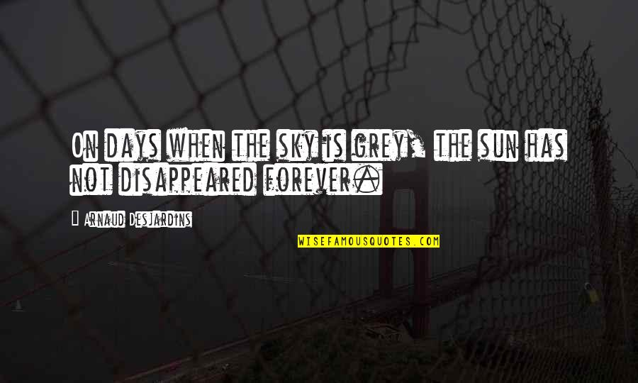 Disappeared Quotes By Arnaud Desjardins: On days when the sky is grey, the
