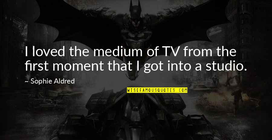 Disaster And Faith Quotes By Sophie Aldred: I loved the medium of TV from the