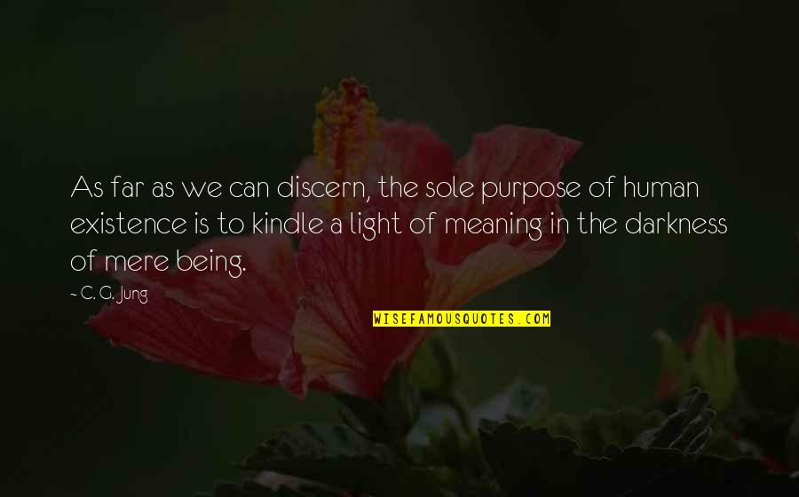 Discern Quotes By C. G. Jung: As far as we can discern, the sole