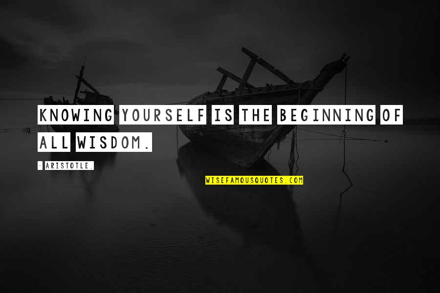 Disese Quotes By Aristotle.: Knowing yourself is the beginning of all wisdom.