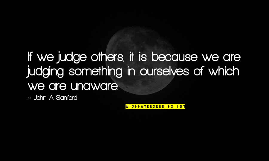 Disese Quotes By John A. Sanford: If we judge others, it is because we