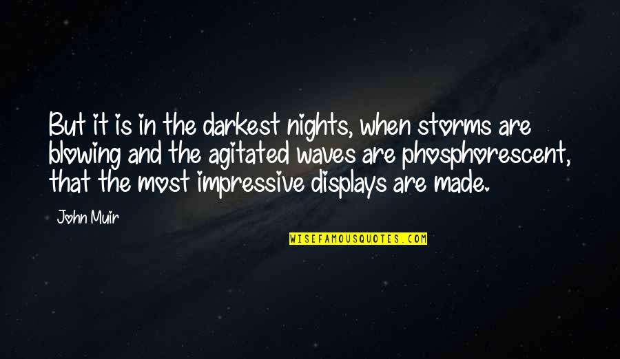 Displays Quotes By John Muir: But it is in the darkest nights, when