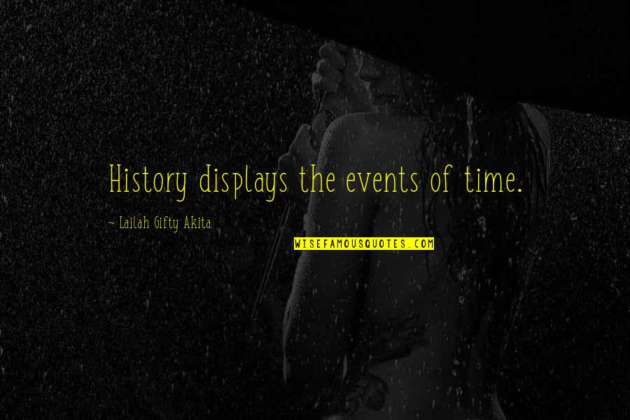 Displays Quotes By Lailah Gifty Akita: History displays the events of time.