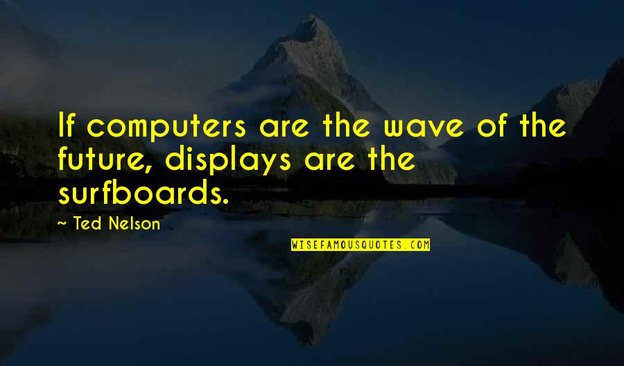 Displays Quotes By Ted Nelson: If computers are the wave of the future,