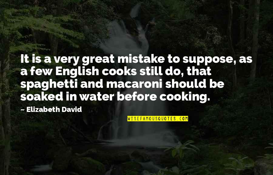 Dispositional Quotes By Elizabeth David: It is a very great mistake to suppose,