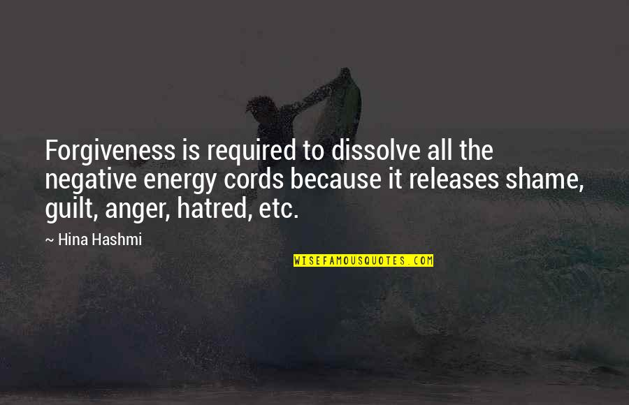 Dissolve Quotes By Hina Hashmi: Forgiveness is required to dissolve all the negative