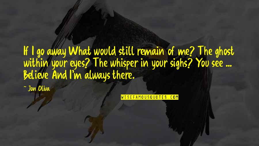 Distance Love Quotes By Jon Oliva: If I go away What would still remain