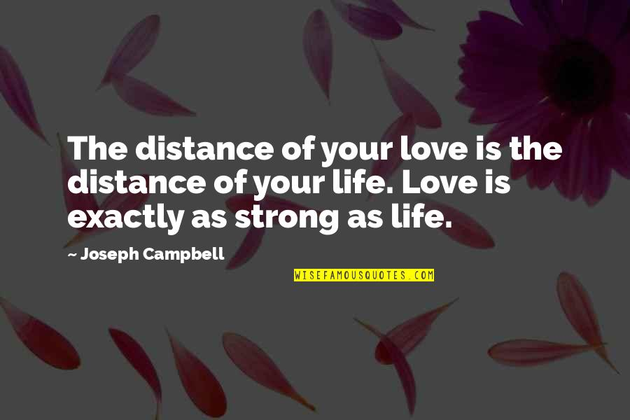 Distance Love Quotes By Joseph Campbell: The distance of your love is the distance