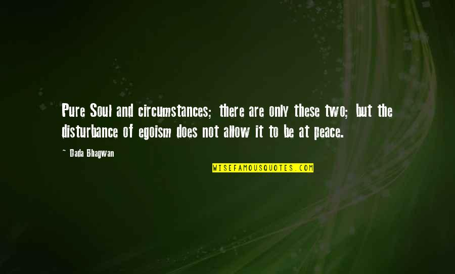 Disturbance Quotes Quotes By Dada Bhagwan: Pure Soul and circumstances; there are only these