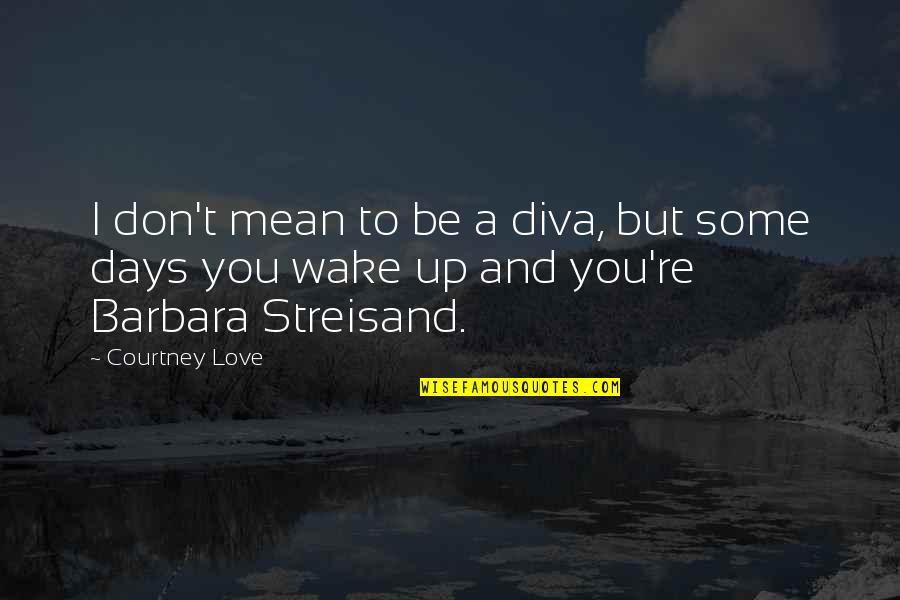 Diva Quotes By Courtney Love: I don't mean to be a diva, but