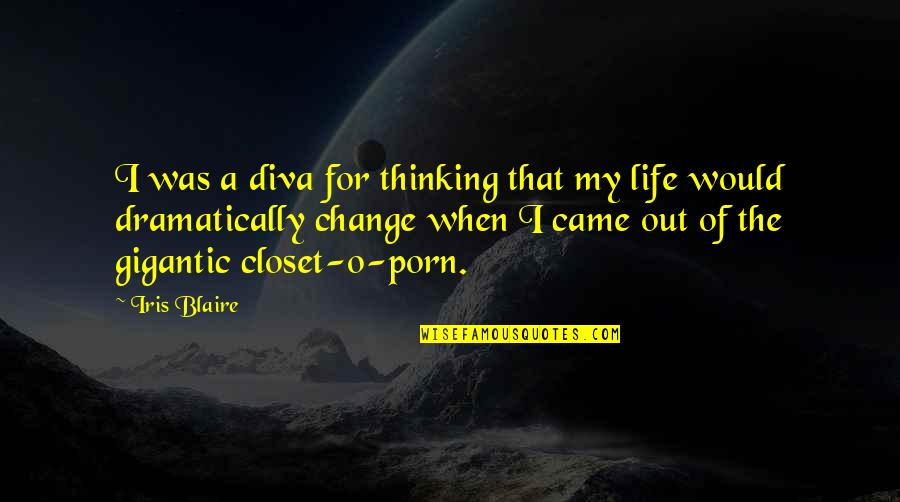Diva Quotes By Iris Blaire: I was a diva for thinking that my