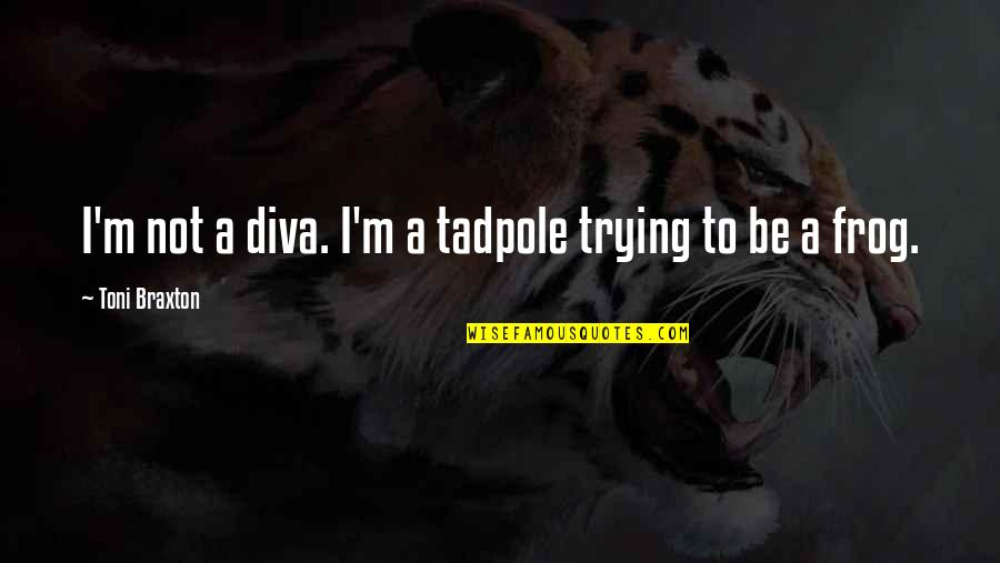 Diva Quotes By Toni Braxton: I'm not a diva. I'm a tadpole trying