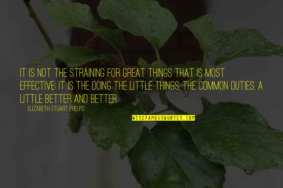 Diwali 2013 Funny Quotes By Elizabeth Stuart Phelps: It is not the straining for great things