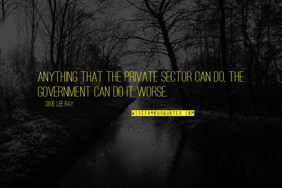 Dixie Quotes By Dixie Lee Ray: Anything that the private sector can do, the