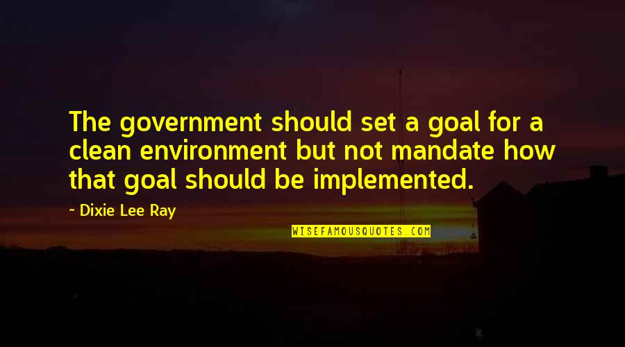 Dixie Quotes By Dixie Lee Ray: The government should set a goal for a