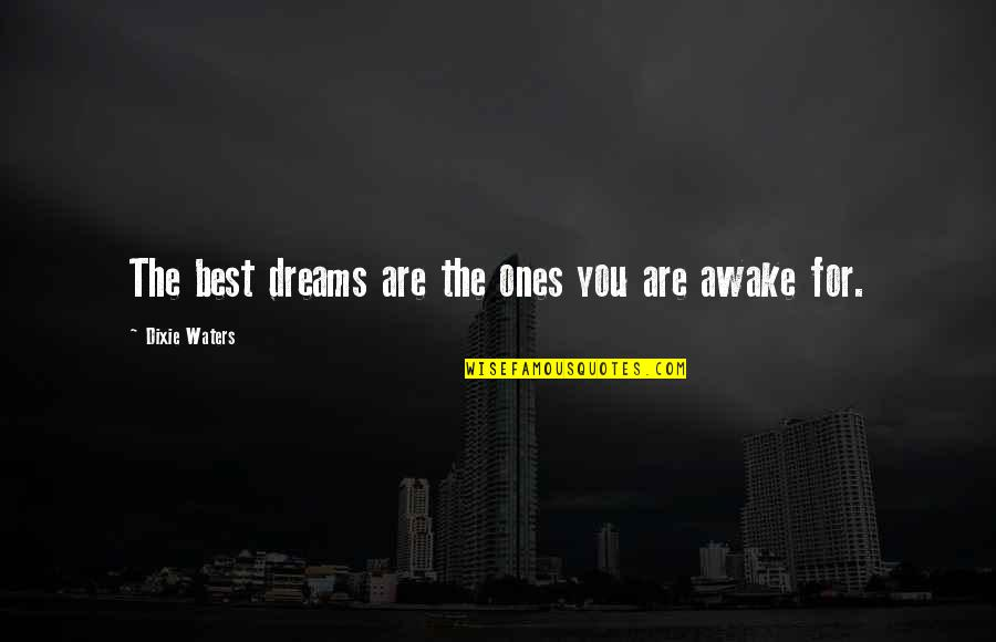 Dixie Quotes By Dixie Waters: The best dreams are the ones you are