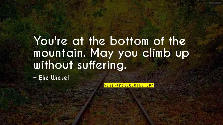 Dj Ez Quotes By Elie Wiesel: You're at the bottom of the mountain. May