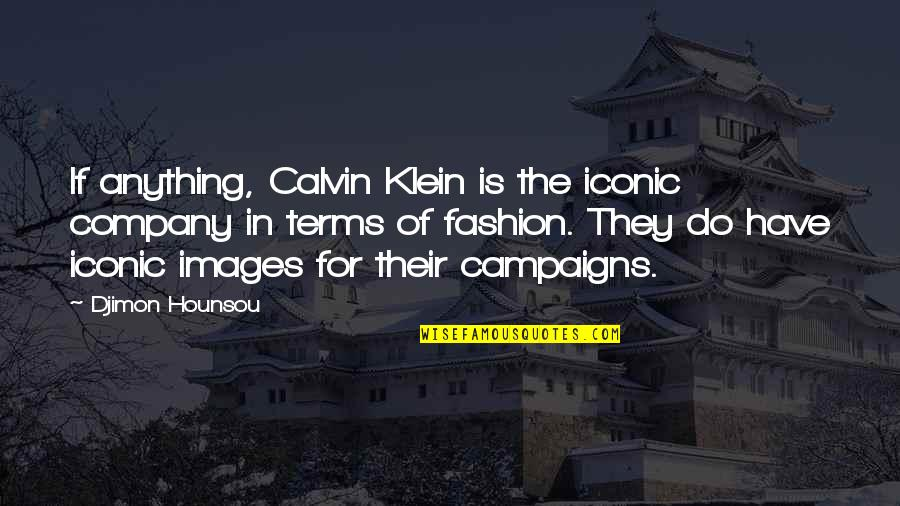Djimon Quotes By Djimon Hounsou: If anything, Calvin Klein is the iconic company