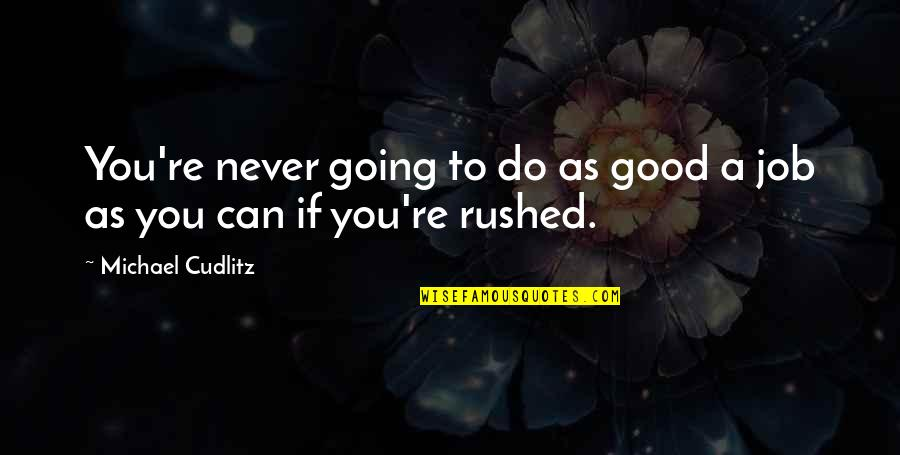 Do A Good Job Quotes By Michael Cudlitz: You're never going to do as good a
