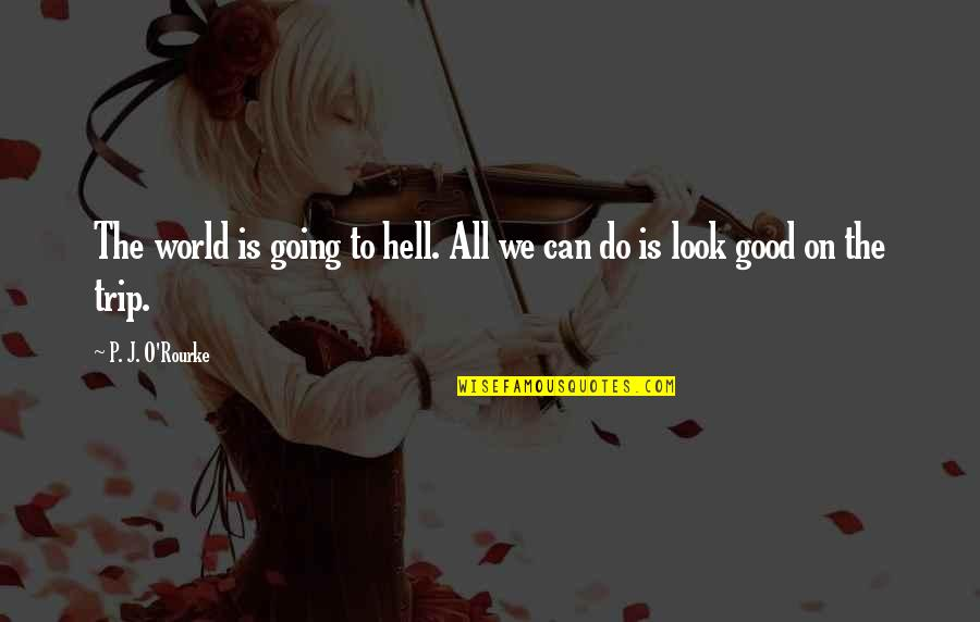 Do All The Good You Can Quotes By P. J. O'Rourke: The world is going to hell. All we