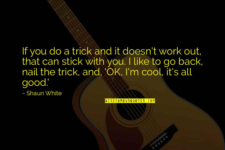 Do All The Good You Can Quotes By Shaun White: If you do a trick and it doesn't