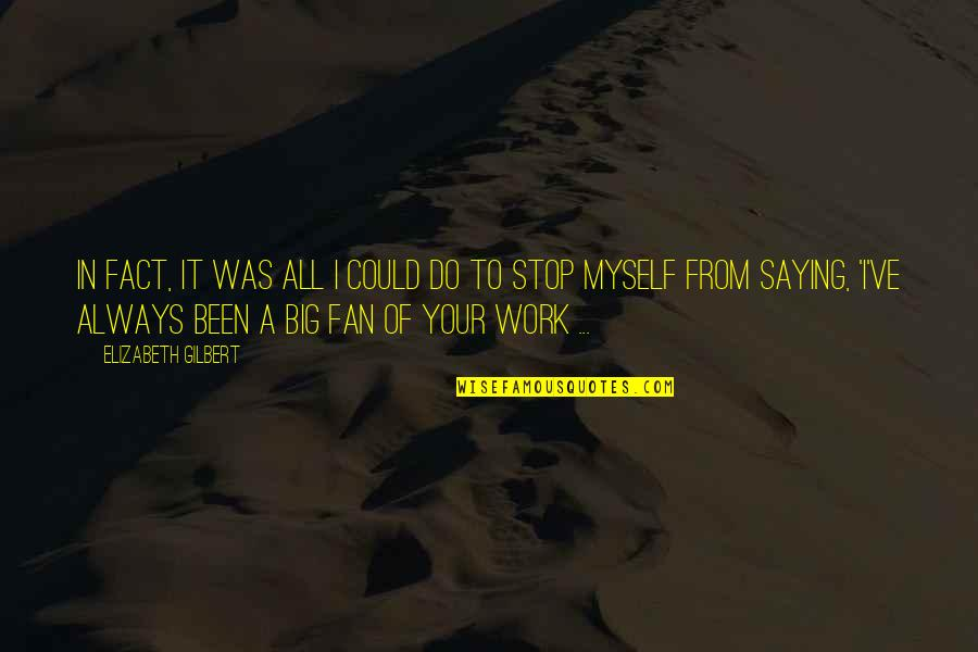 Do It Myself Quotes By Elizabeth Gilbert: In fact, it was all I could do