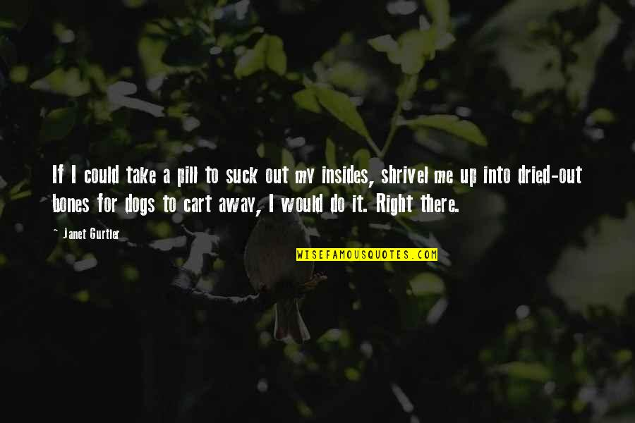 Do It Right Quotes By Janet Gurtler: If I could take a pill to suck