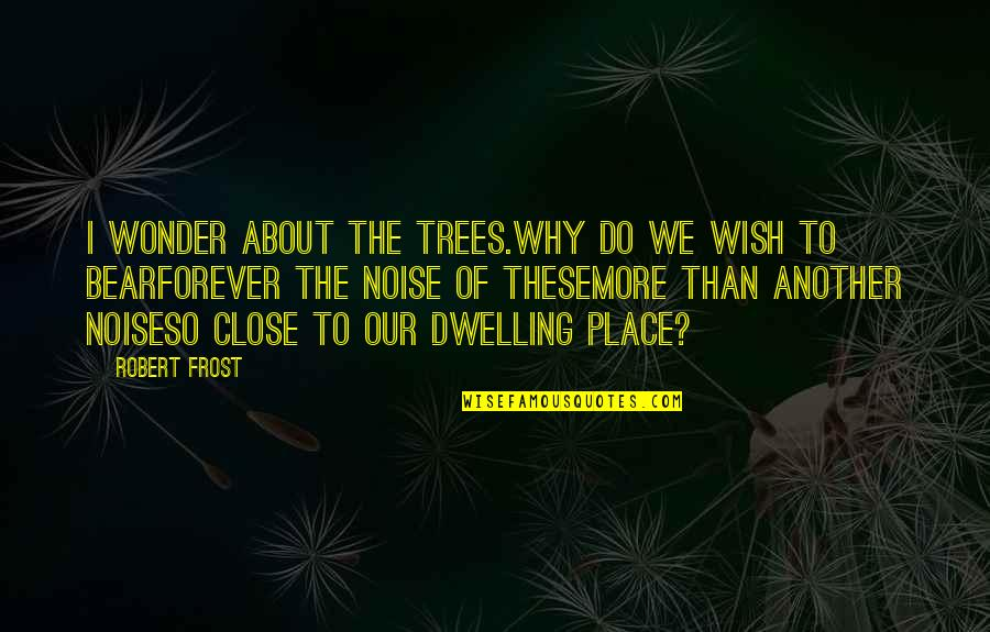 Do More Than Quotes By Robert Frost: I wonder about the trees.Why do we wish