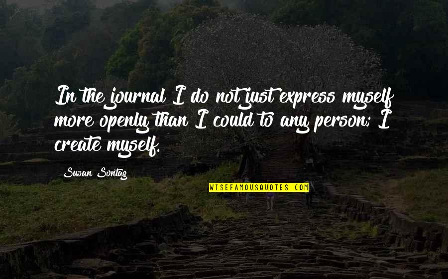 Do More Than Quotes By Susan Sontag: In the journal I do not just express