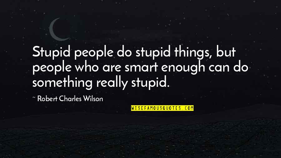 Do Something Stupid Quotes By Robert Charles Wilson: Stupid people do stupid things, but people who