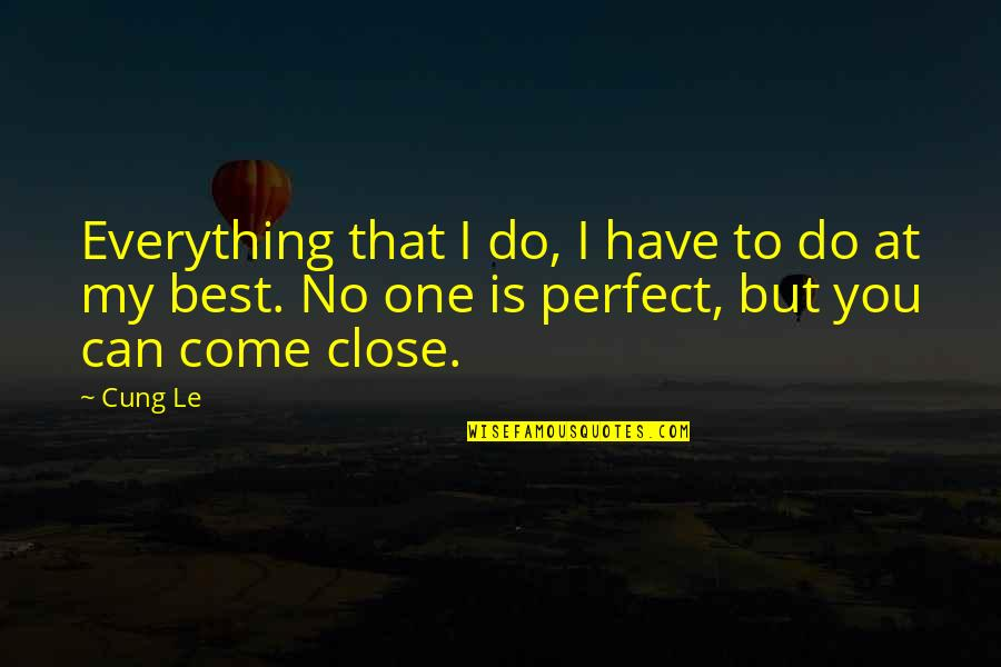 Do You Best Quotes By Cung Le: Everything that I do, I have to do