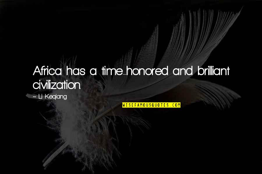Do You Have To Indent Quotes By Li Keqiang: Africa has a time-honored and brilliant civilization.
