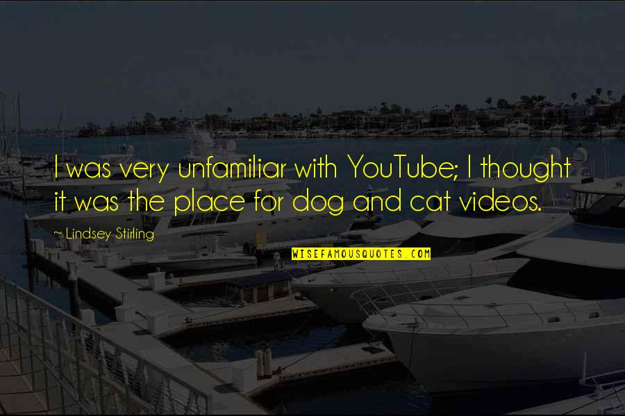 Dog Cat Quotes By Lindsey Stirling: I was very unfamiliar with YouTube; I thought