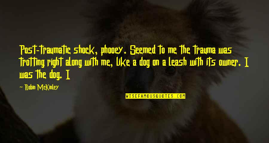 Dog Leash Quotes By Robin McKinley: Post-traumatic shock, phooey. Seemed to me the trauma