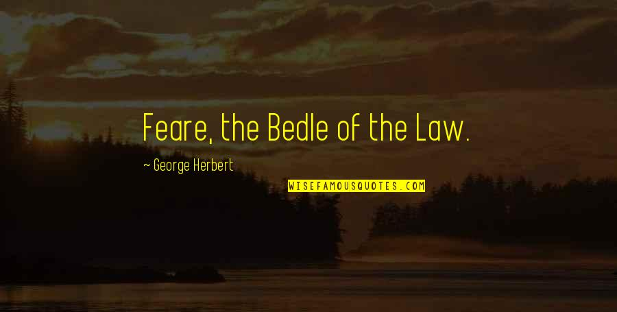 Doggie Quotes Quotes By George Herbert: Feare, the Bedle of the Law.