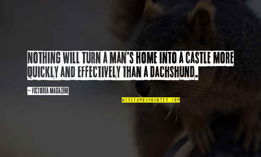 Dogs And Home Quotes By Victoria Magazine: Nothing will turn a man's home into a