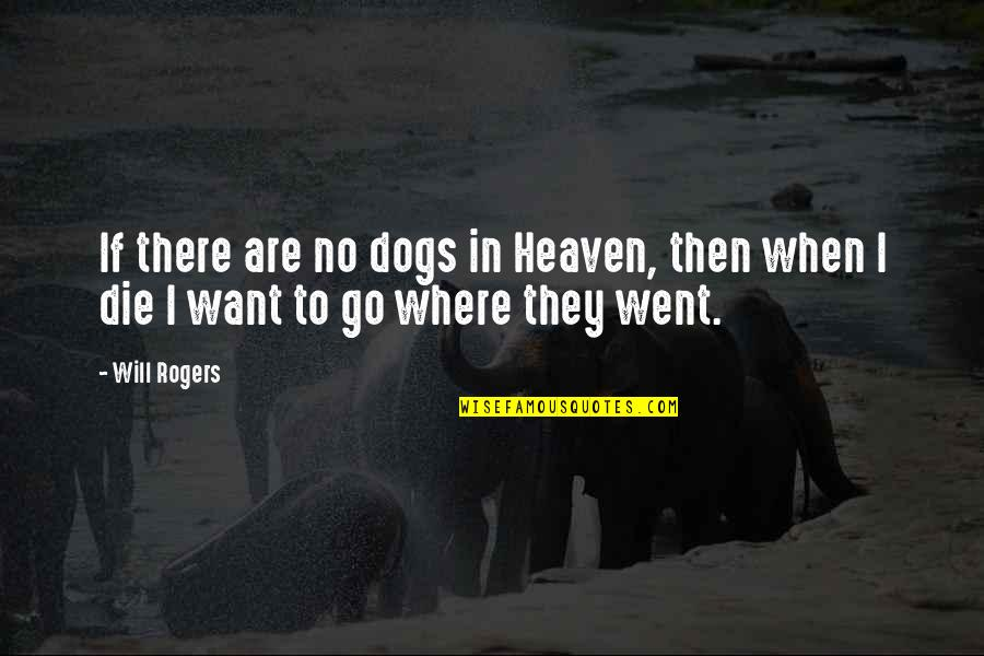 Dogs Death Quotes By Will Rogers: If there are no dogs in Heaven, then