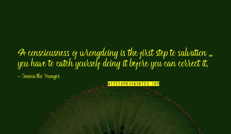 Doing It Yourself Quotes By Seneca The Younger: A consciousness of wrongdoing is the first step