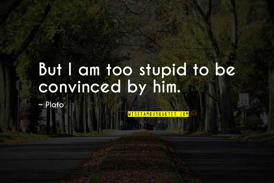 Doing Prison Time Quotes By Plato: But I am too stupid to be convinced
