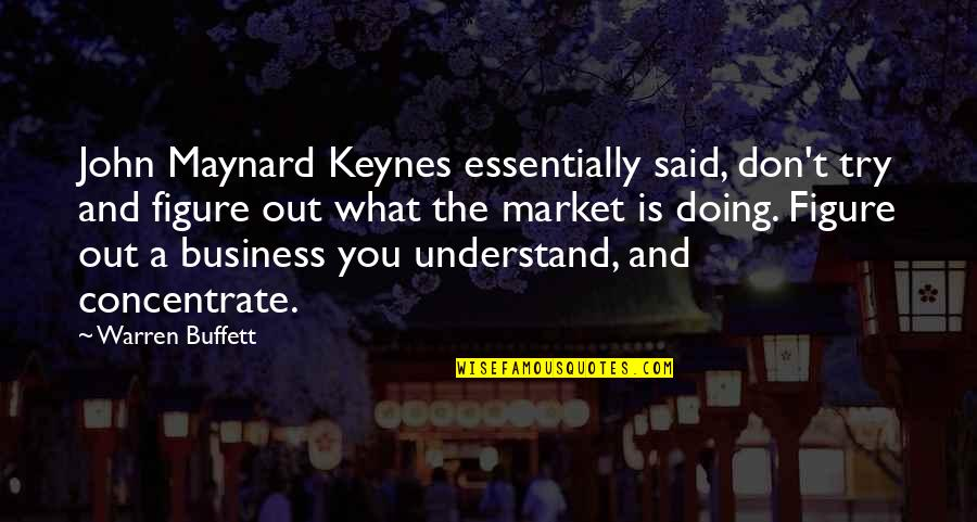 Doing What You Said Quotes By Warren Buffett: John Maynard Keynes essentially said, don't try and