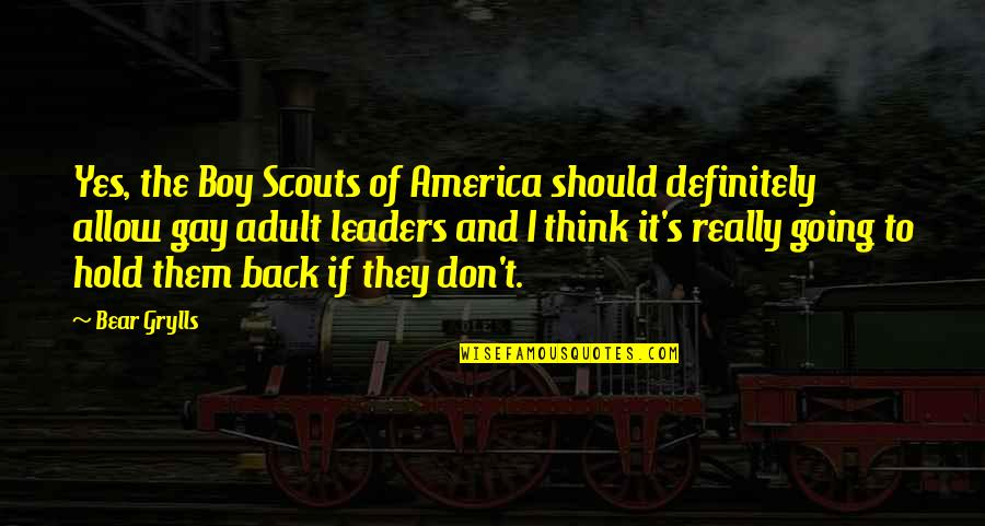 Dollar Collapse Quotes By Bear Grylls: Yes, the Boy Scouts of America should definitely